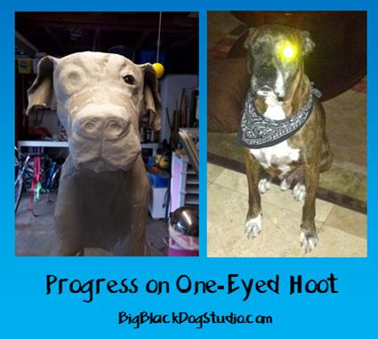 07-15-13 progress on one-eyed Hoot