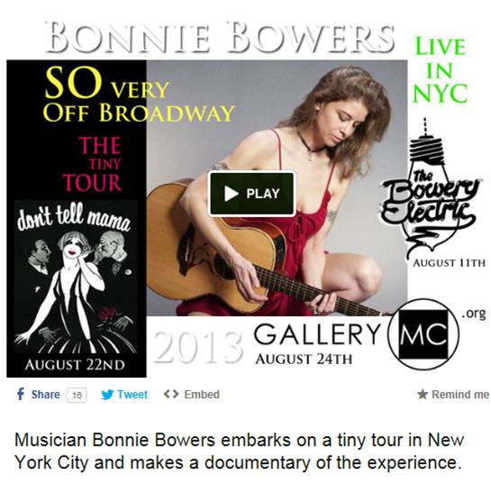 Bonnie Tiny Tour