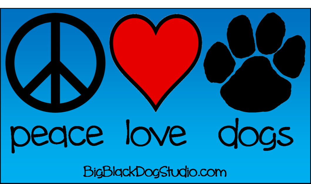 peace love dogs blue