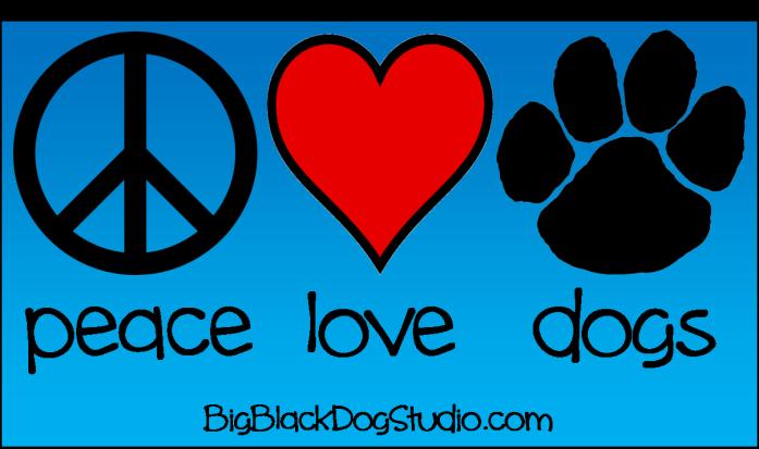 peace love dogs blue